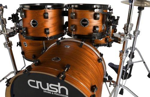 Crush Drums & Percussion C2A548-204 5-Piece Drum Shell Pack, Transparent Satin Orange