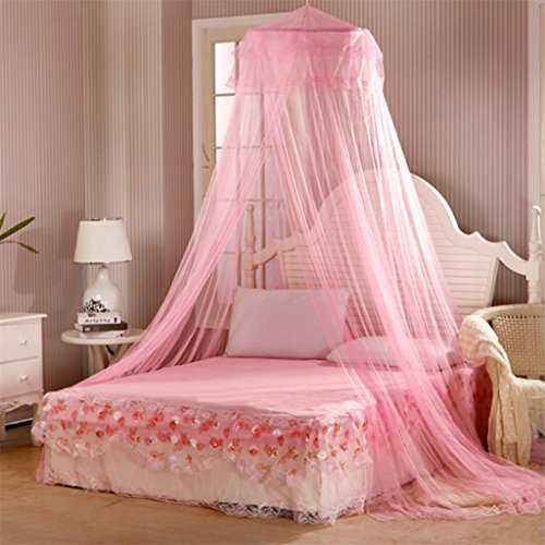 trenton-bedding-decor-summer-sweet-style-round-bed-canopy-dome-mosquito-net-pink