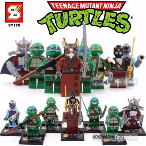 8/10+ mini figures star wars marvel avengers man ninja toy super hero fits lego Ninja Turtle - 8 mini (Blue Ninja Turtle Name)