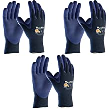 3 Pack MaxiFlex® EliteTM 34-274 Ultra Light Weight Glove With Nitrile Coated Grip On Palm & Fingers, Sizes S-XL...