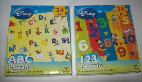 DISNEY PUZZLES 2 pack ABC & 123
