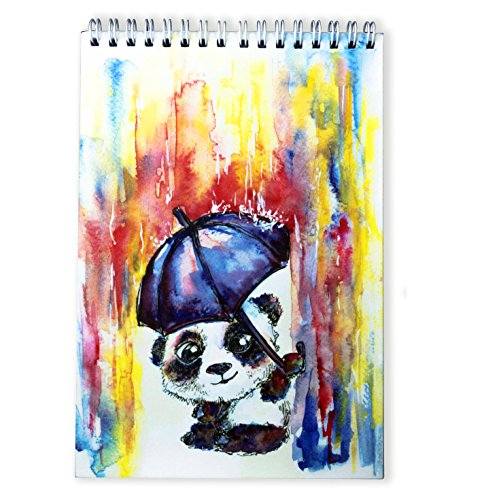 #1 BEST Sketchbook for Kids by TravelArt - Creative Panda Artwork, Acid Free - Spiral Sketch Pad of 100 - Great Craft Journal for Beginners to Learn How to Draw with Colored Pencils - Perfect Gift (Drawing Pad Small compare prices)