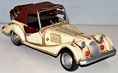 Auto Car Metal Tin Plate Model Is Attached To 1959 Vintage Morgan Vintage Model Car Approximately 34 cm 37496 Tin