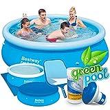 6in1 Set Green Pool Quick-up Gartenpool 244 x 66 cm