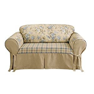 Sure fit lexington sofa slipcover blue slipcovers for sofa Blue loveseat slipcover