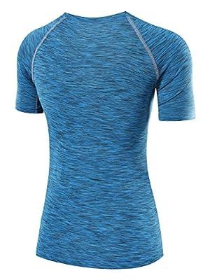 Neleus Women's Dry Compression Athletic Short Sleeve Shirts