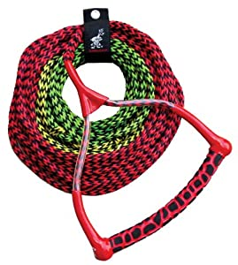AIRHEAD AHSR-3, 3-Section Water Ski Rope with Radius Handle and EVA Grip by Kwik Tek Inc