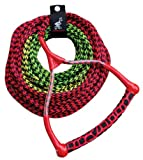 Kwik Tek 3-Section Water Ski Rope with Radius Handle and EVA Grip