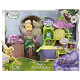 """Disney Fairies 4.5"""" Fairy With Play Environments - Wave 1 Style 1 - Tink's Pixie Kitchen"""