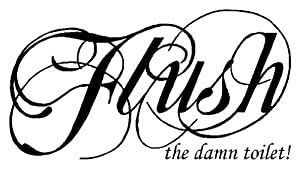 Amazon.com: FLUSH the Damn Toilet - Bathroom Wall Vinyls ...