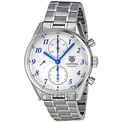 TAG Heuer Men's CAS2111.BA0730 Carrera Silver Dial Chronograph Steel Watch