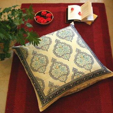 Morning Dew ~ Elegant French Yellow Blue European Pillow Sham 26X26 front-731576
