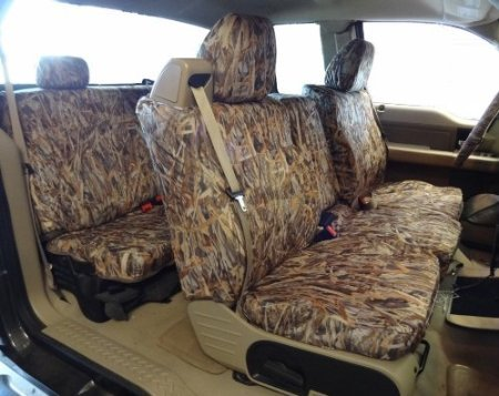 Exact Seat Covers, FD9 SA-C, 2004-2008 Ford F150 XLT Super Cab Complete Front and Rear Seat Set Custom Exact Fit Seat Covers, Savanna Camo Endura (Custom Fit Seat Covers Camo compare prices)