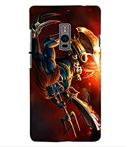 ColourCraft Lord Shiva Design Back Case Cover for OnePlus Two