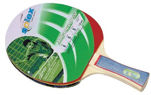 Solex Sports TT-Schläger Advanced 202 Schwamm, rot/holz, 26 x 15 x 2 cm, 44212