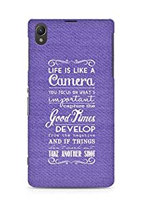 AMEZ life is like a camera Back Cover For Sony Xperia Z1 C6902