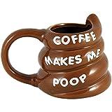 Coffee Makes Me Poop Mug - Turd Pile Shaped Potty Humor Coffee Cup