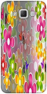 Snoogg Multicolored Daisies And Butterflies 2662 Designer Protective Back Cas...