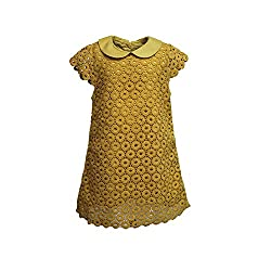 A Little Fable Yellow lace dress 6 to 7 yr