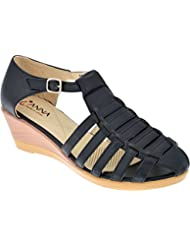 IAnna Gladiator Designed Wedge Heel Sandal