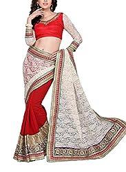 Vastram Online Shop Women's Chiffon Saree (Tithi-07_Multicolor)