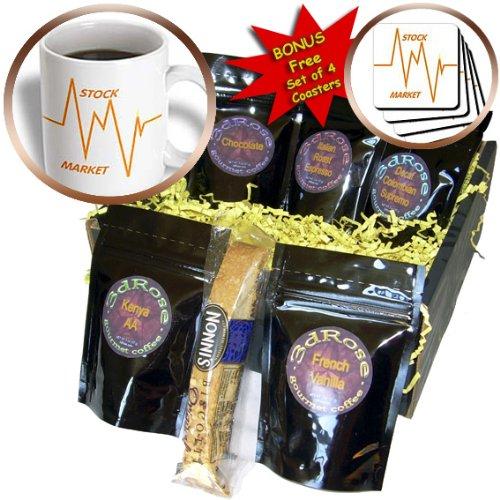 Cgb_43845_1 Florene Humor - Stock Market Words N Graph - Coffee Gift Baskets - Coffee Gift Basket