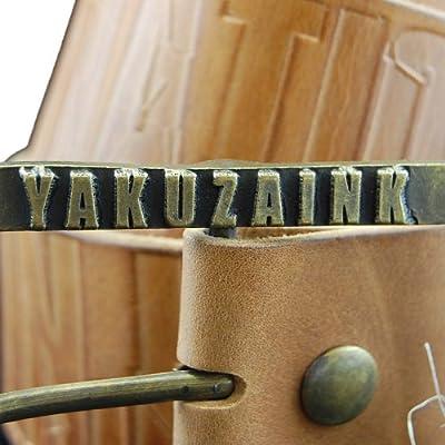 Yakuza Ink G-YA 304 Herren Leder Gürtel, Größe 90 cm, hellbraun