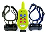 All Rechargeable Version Groovypets® 2-Dog Remote Dog Training Collar Systems:Rechargeable Remote Dog Collar No Bark Remote Obedience Training Shock Collar System