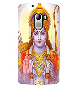 ColourCraft Lord Rama Design Back Case Cover for LENOVO VIBE K4 NOTE