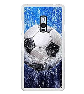 Football in Water 2D Hard Polycarbonate Designer Back Case Cover for OnePlus 2 :: OnePlus Two :: One +2