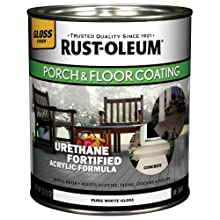 Rust-Oleum 244854 Porch Floor Paint, Pure White Gloss, 1-Quart