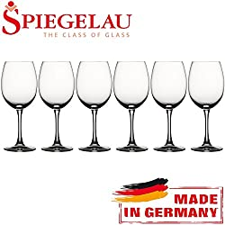 SPIEGELAU® Soiree Rotwein-Magnum Bordeaux 6 Pack Large Wine Table Platinum Glass Set - 515ml/18oz (MADE IN GERMANY)