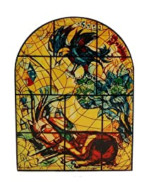 Book Stands 2 Pc. Wood Holders Replicas of two of the famous CHAGALL stained glass windows in Jerusalem\'s Hadassah Hospital , 12 Tribes of Israel, 6.75\