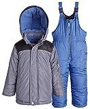 Carter's Baby Boys Snowboard Ski Down Alternative Snowsuit Bib and Jacket Set - Grey (18 Months)