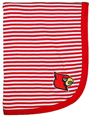 "Louisville Cardinals NCAA College Newborn Infant Baby Blanket 33"" x 36"" - 1"