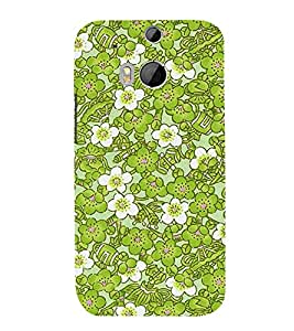 Lotus Flower 3D Hard Polycarbonate Designer Back Case Cover for HTC One M8 :: HTC M8 :: HTC One M 8