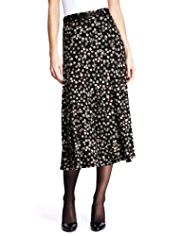 M&S Collection Floral Print Long Flippy Skirt with Belt