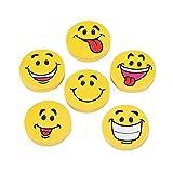 Large Smile Face Erasers (4 dz)