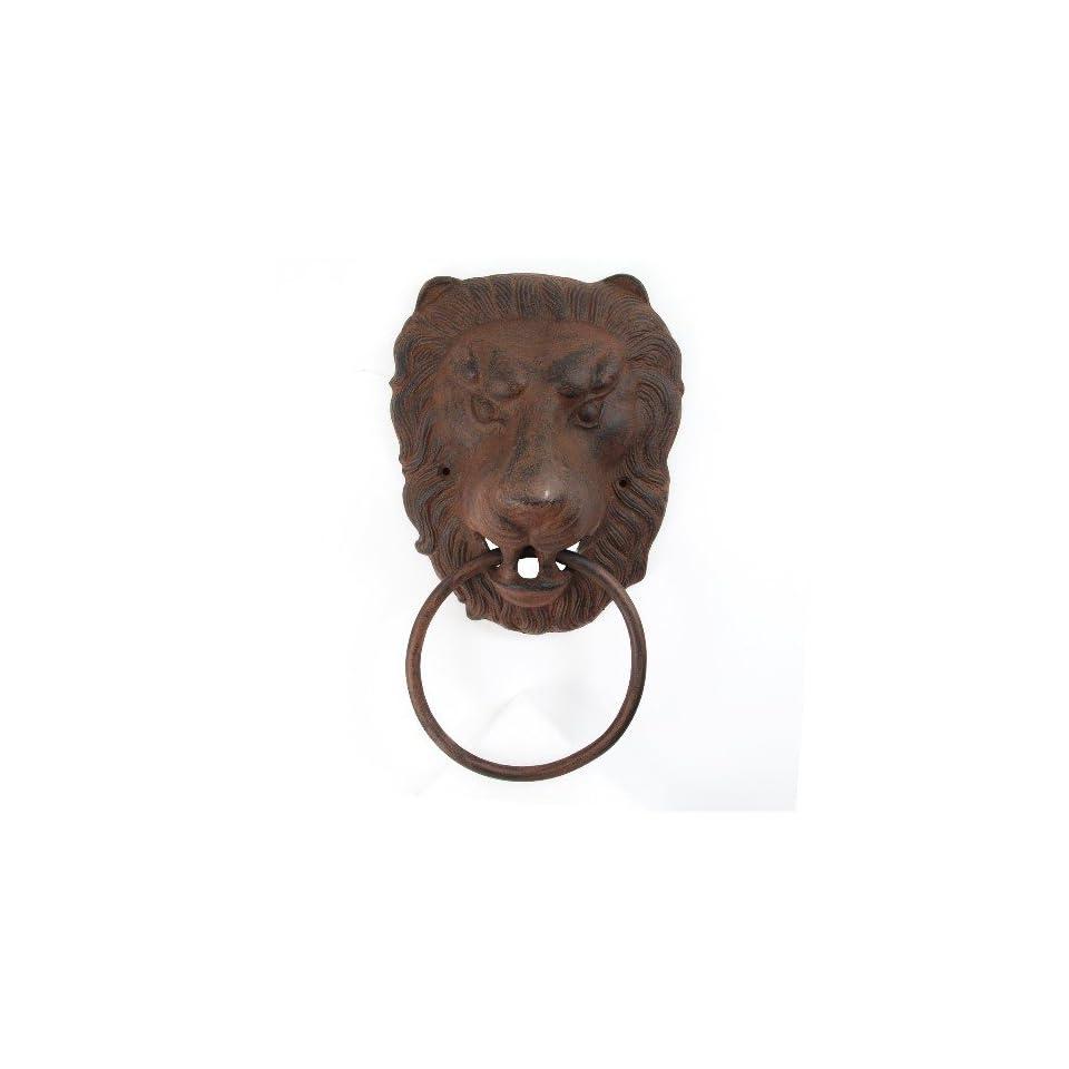 Antiqued Cast Iron Lion Head Large Towel Ring