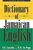 img - for A Dictionary of Jamaican English book / textbook / text book