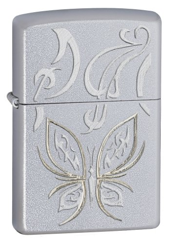 zippo-butterfly-design-satin-chrome-pocket-lighter