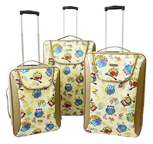 3pc-Luggage-Set-Travel-Bag-Rolling-Wheel-Carryon-Expandable-Upright-Birds