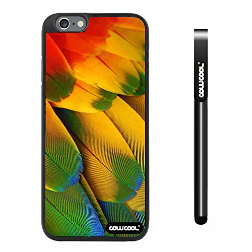 Cowcool® Apple Iphone 6 Plus 5.5 Inch Case Hard Pc Wings Feathers Black Shell Single Layer Protective Case (#13)