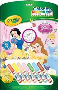 Crayola 555220 - Princess Malen Nach Zahlen inkl. 7 Stifte