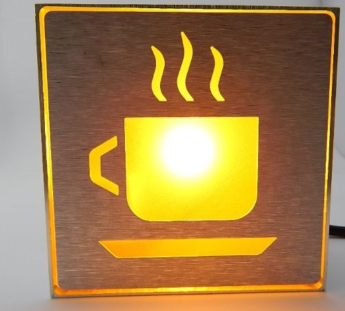 E-Age High Quality Yellow Led Coffee Shop Sign Lights Led Indicator Light