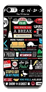The Racoon Lean Central Perk inspired hard plastic printed back case for Apple Iphone 5/5s