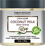 First Botany Cosmeceuticals Coconut Milk Body Polish with Dead Sea Salt and Vitamin E for All Skin Types, 12 oz