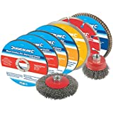 Silverline 633831 Cutting and Grinding Discs Kit, 12-Piece