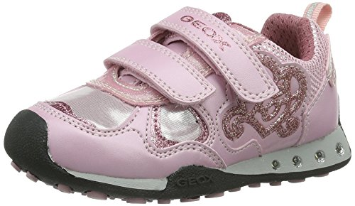 Geox JR NEW JOCKER GIRL, Sneaker bambine, Pink (Pinkc8005), 33 (1 UK)