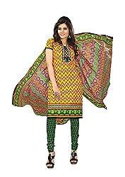 Khushbu Textile Women's Cotton Unstitched Salwar Suit (9004_Multicolor_Free Size)